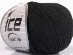 Lot of 4 Skeins Ice Yarns AMIGURUMI COTTON (60% Cotton) Yarn Black