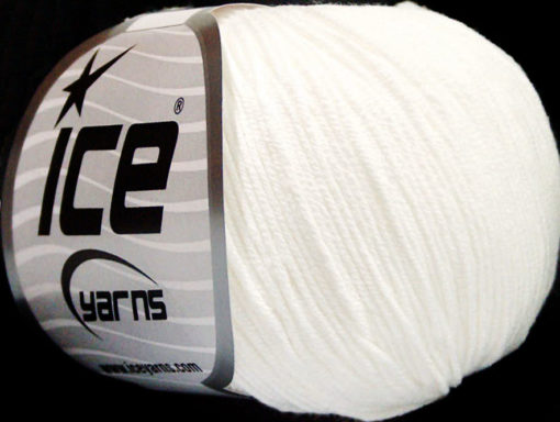 Lot of 4 Skeins Ice Yarns AMIGURUMI COTTON (60% Cotton) Yarn White