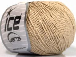 Lot of 4 Skeins Ice Yarns AMIGURUMI COTTON (60% Cotton) Yarn Beige
