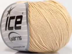 Lot of 4 Skeins Ice Yarns AMIGURUMI COTTON (60% Cotton) Yarn Dark Cream