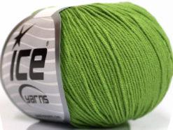 Lot of 4 Skeins Ice Yarns AMIGURUMI COTTON (60% Cotton) Yarn Green