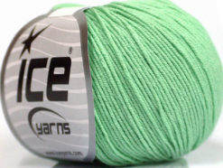 Lot of 4 Skeins Ice Yarns AMIGURUMI COTTON (60% Cotton) Yarn Mint Green