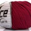 Lot of 4 Skeins Ice Yarns AMIGURUMI COTTON (60% Cotton) Yarn Burgundy
