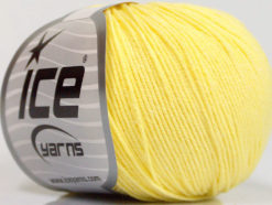 Lot of 4 Skeins Ice Yarns AMIGURUMI COTTON (60% Cotton) Yarn Light Yellow