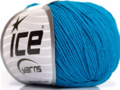 Lot of 4 Skeins Ice Yarns AMIGURUMI COTTON (60% Cotton) Yarn Turquoise