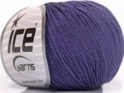 Lot of 4 Skeins Ice Yarns AMIGURUMI COTTON (60% Cotton) Yarn Purple