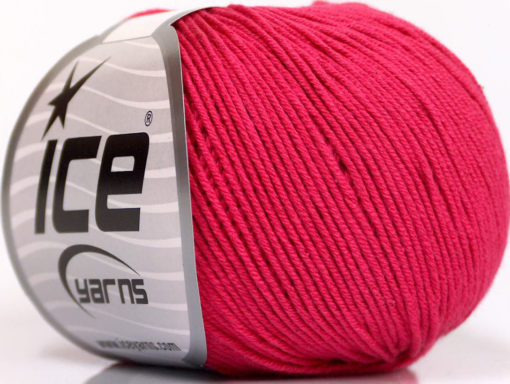 Lot of 4 Skeins Ice Yarns AMIGURUMI COTTON (60% Cotton) Yarn Fuchsia