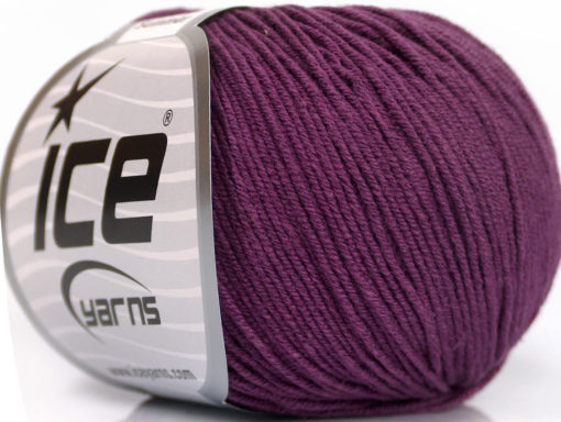 Lot of 8 Skeins Ice Yarns BABY SUMMER (60% Cotton) Hand Knitting Yarn Maroon