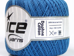 Lot of 6 Skeins Ice Yarns DAPHNE COTTON (100% Mercerized Cotton) Yarn Blue