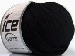 Lot of 8 Skeins Ice Yarns RIBBON WOOL (50% Wool) Hand Knitting Yarn Black