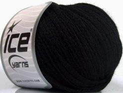 Lot of 8 Skeins Ice Yarns RIBBON WOOL (50% Wool) Hand Knitting Yarn Black