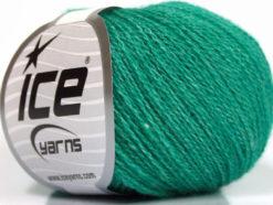 Lot of 6 Skeins Ice Yarns SILK MERINO (35% Silk 65% Merino Wool) Yarn Emerald Green