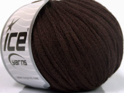 Lot of 8 Skeins Ice Yarns RIBBON WOOL (50% Wool) Hand Knitting Yarn Brown