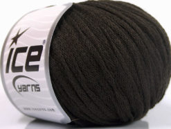 Lot of 8 Skeins Ice Yarns RIBBON WOOL (50% Wool) Yarn Coffee Brown