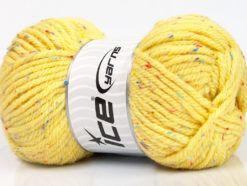 Lot of 4 x 100gr Skeins Ice Yarns WOOL TWEED SUPERBULKY (25% Wool 3% Viscose) Yarn Yellow