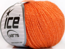 Lot of 6 Skeins Ice Yarns SILK MERINO (35% Silk 65% Merino Wool) Yarn Orange
