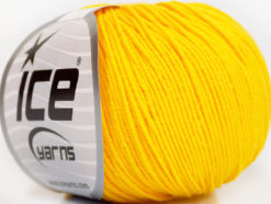 Lot of 4 Skeins Ice Yarns AMIGURUMI COTTON (60% Cotton) Yarn Yellow