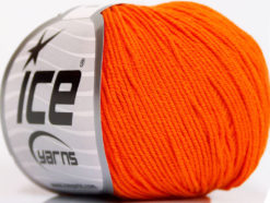 Lot of 4 Skeins Ice Yarns AMIGURUMI COTTON (60% Cotton) Yarn Orange