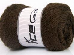Lot of 4 x 100gr Skeins Ice Yarns NORSK (45% Alpaca 25% Wool) Yarn Dark Brown