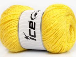 Lot of 4 x 100gr Skeins Ice Yarns NORSK (45% Alpaca 25% Wool) Yarn Yellow