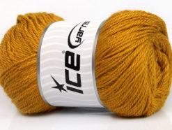 Lot of 4 x 100gr Skeins Ice Yarns NORSK (45% Alpaca 25% Wool) Yarn Gold