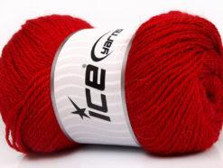 Lot of 4 x 100gr Skeins Ice Yarns NORSK (45% Alpaca 25% Wool) Yarn Dark Red