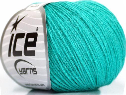 Lot of 6 Skeins Ice Yarns BABY MERINO (40% Merino Wool) Yarn Mint Green