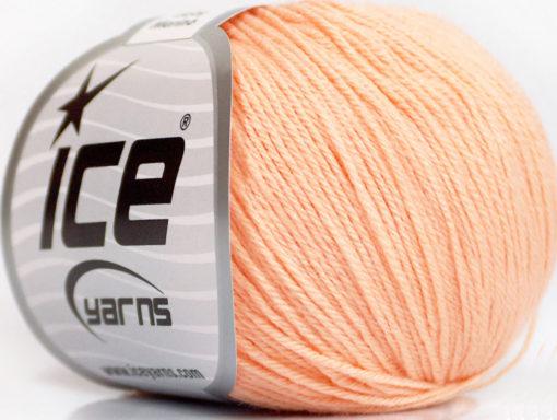 Lot of 6 Skeins Ice Yarns BABY MERINO (40% Merino Wool) Yarn Light Salmon