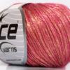 Lot of 8 Skeins Ice Yarns ROCK STAR (19% Merino Wool) Yarn Gold Pink