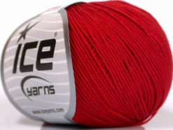 Lot of 8 Skeins Ice Yarns BABY SUMMER (60% Cotton) Hand Knitting Yarn Red