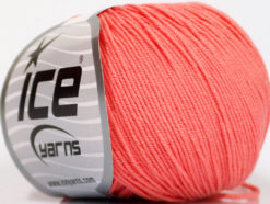 Lot of 4 Skeins Ice Yarns AMIGURUMI COTTON (60% Cotton) Yarn Salmon