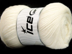 Lot of 4 x 100gr Skeins Ice Yarns NORSK FINE (45% Alpaca 25% Wool) Yarn Off White