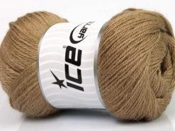 Lot of 4 x 100gr Skeins Ice Yarns NORSK FINE (45% Alpaca 25% Wool) Yarn Light Brown