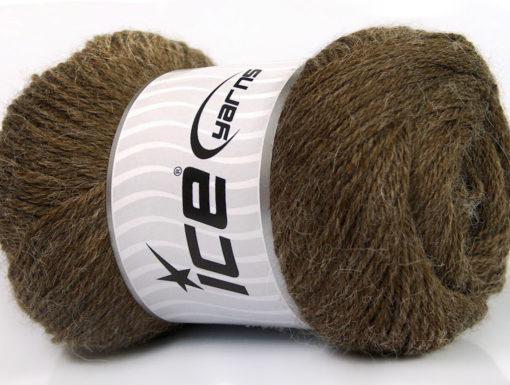 Lot of 4 x 100gr Skeins Ice Yarns NORSK FINE (45% Alpaca 25% Wool) Yarn Dark Brown