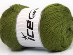 Lot of 4 x 100gr Skeins ICE NORSK FINE (45% Alpaca 25% Wool) Yarn Green