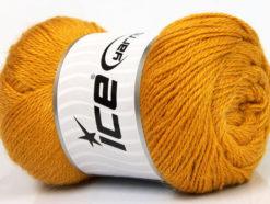 Lot of 4 x 100gr Skeins Ice Yarns NORSK FINE (45% Alpaca 25% Wool) Yarn Gold