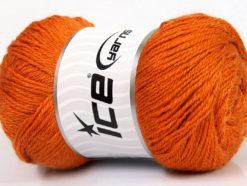 Lot of 4 x 100gr Skeins Ice Yarns NORSK FINE (45% Alpaca 25% Wool) Yarn Orange