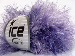 Lot of 8 Skeins Ice Yarns LONG EYELASH COLORFUL Yarn Lilac Shades