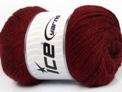 Lot of 4 x 100gr Skeins Ice Yarns NORSK (45% Alpaca 25% Wool) Yarn Burgundy