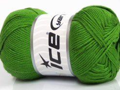 Lot of 4 x 100gr Skeins Ice Yarns BAMBOO SOFT (50% Bamboo) Yarn Green