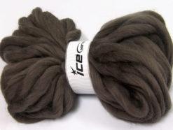 Lot of 2 x 200gr Skeins Ice Yarns JUMBO SUPERWASH WOOL (100% Superwash Wool) Yarn Dark Brown