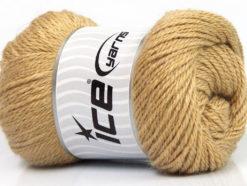 Lot of 4 x 100gr Skeins Ice Yarns NORSK (45% Alpaca 25% Wool) Yarn Light Brown