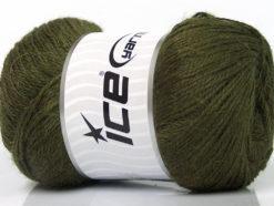 Lot of 4 x 100gr Skeins Ice Yarns NORSK FINE (45% Alpaca 25% Wool) Yarn Dark Green
