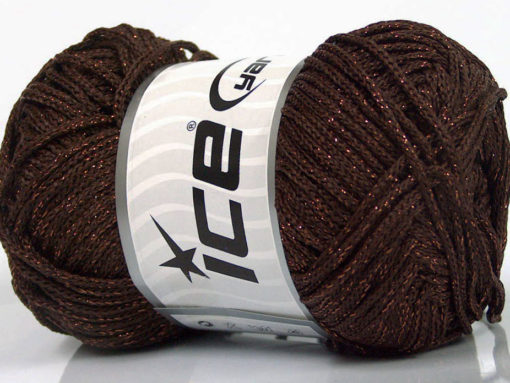 Lot of 4 x 100gr Skeins Ice Yarns MACRAME CORD Hand Knitting Yarn Brown Copper