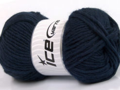 Lot of 4 x 100gr Skeins Ice Yarns FELTING WOOL (100% Wool) Yarn Navy