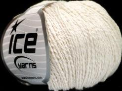 Lot of 4 Skeins Ice Yarns SILK COTTON (32% Silk 68% Cotton) Yarn Off White