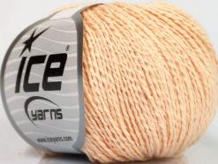 Lot of 4 Skeins Ice Yarns SILK COTTON (32% Silk 68% Cotton) Yarn Light Salmon