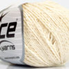 Lot of 4 Skeins Ice Yarns SILK COTTON (32% Silk 68% Cotton) Yarn Cream