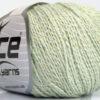 Lot of 4 Skeins Ice Yarns SILK COTTON (32% Silk 68% Cotton) Yarn Light Mint Green