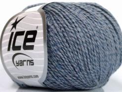 Lot of 4 Skeins Ice Yarns SILK COTTON (32% Silk 68% Cotton) Yarn Indigo Blue